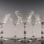 SALE Libbey Rock Sharpe Champagne/Champagne Cocktail  Wine Glasses