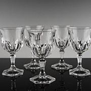 SALE Claret Wine Glasses Made in France