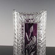 SALE Ruby Accented Hofbauer Byrdes Rectangular Vase