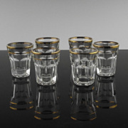SALE Gold Accented Shot Glasses