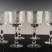 "SALE Elegant ""Willowmere"" Water/Large Wine by Fostoria ca 1938-1970"