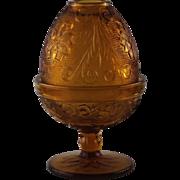 SALE Vintage Tiara Glass Fairy Lamp ca 1970's
