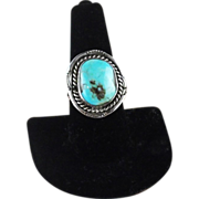 SOLD Navajo Sterling and Turquoise Ring ca 1970's