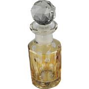SALE Honey Amber Cut To Clear Perfume Bottle
