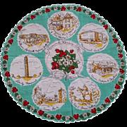 Round Kansas City Missouri Souvenir Handkerchief Hankie Unused