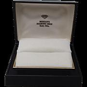 Warner Double Ring Box White Velvet Interior Morgans Diamond Shop Enid OK