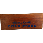 SALE Helene Curtis Cold Wave Wood Box with Lid