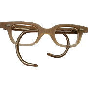SALE American Optical Vintage Child or Baby Size Glass Frames Eyeglasses Taupe NOS Size 32-18-