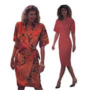 Linda Allard for Ellen Tracy Wrap Dress Vintage Sewing Pattern Butterick 4017 Size 6 †...