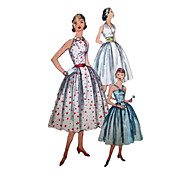 Sz 14 Simplicity 1950s Party or Sun Dress Sewing Pattern No 2064 Bust 34 with 3 Style Bodices