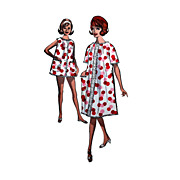 Advance 2918 SZ 12 32 bust Robe, Baby Doll or Shortie Pajama Pattern with Bloomer Style Pantie