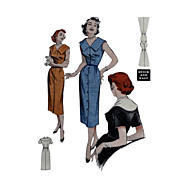 Butterick 6876 Sheath Dress Pattern 32 inch Bust 1950s UNCUT Sz 14