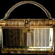 Dorset Rex Pierced Brass Evening Bag Originally Sold at Saks Fifth Avenue