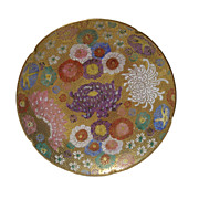 Satsuma Style Biscuit or Tea Plate with Heavy Gold and Moriage Made in Japan Original ...