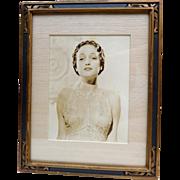 SOLD Original Dorothy Lamour Studio Photo in 1930s Frame