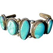 Child/Petite Wrist Sterling and Turquoise Native American Bracelet
