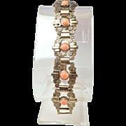 Deco-Era Stamped Aluminum Bracelet