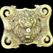 Victorian Lion Brooch
