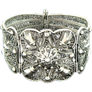 SALE Egyptian 800 Silver Filigree Bracelet