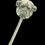 Bulldog Stickpin Sterling Gold Vermeil Link & Angell