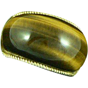 14K Tiger's Eye Domed Bubble Ring
