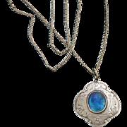Murrle Bennett Pendant Necklace Arts & Crafts 950 Silver Enamel