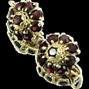 Gorgeous 14K Gold Garnet Earrings