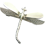 Dragonfly Barrette Sterling Silver Mexican