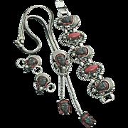 Selro Nubian Princess Parure Lariat Necklace Bracelet Earrings