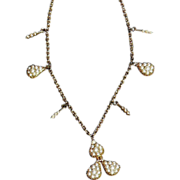 Victorian 18K and 14K Seed Pearl Necklace