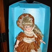 "REDUCED MIB 8"" Porcelain Ginny Doll by Vogue with Sleep Eyes"