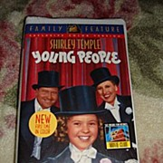 """SOLD NRFP Shirley Temple VHS Tape """"Young People"""""""