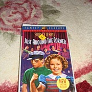"""SOLD NRFP Shirley Temple VHS Tape """"Just Around the Corner"""" - Red Tag Sale Item"""