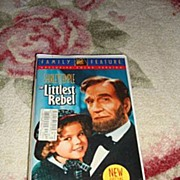 "SALE NRFP Shirley Temple VHS Tape ""The Littlest Rebel"""