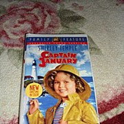"SALE NRFP Shirley Temple VHS Tape ""Captain January"""