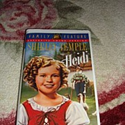 "SALE MIP Shirley Temple VHS Tape ""Heidi"""