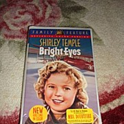 """SOLD NRFP Shirley Temple VHS Tape """"Bright Eyes"""" - Red Tag Sale Item"""