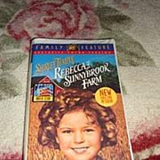"SOLD NRFP Shirley Temple VHS Tape ""Rebecca of Sunnybrook Farm"""