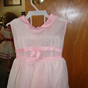 REDUCED 50's Style Pink Eyelet Dress for Playpal