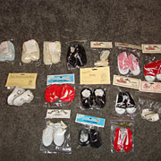 SALE 12 Pairs of Assorted Doll Shoes MIP
