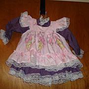 SALE Beautiful Pink & Purple Doll Dress