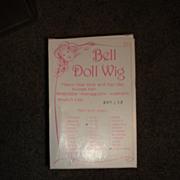 SALE MIP Bell Doll Wig - Pale Blonde