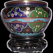 Late 19th Century Japanese Cloisonne Bowl