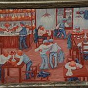Italian modernist art 1970s painting by listed artist MARA MARIOTTI