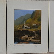 Alaskana THREE Sydney Laurence (1865-1940) signed colored Alaska scene prints by Griffin's