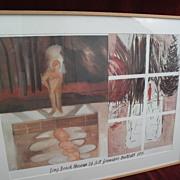 JENNIFER BARTLETT (1941-) major American contemporary artist pencil signed 1984 museum poster