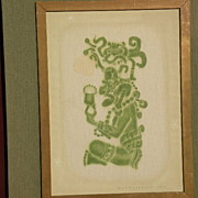 DALE NICHOLS (1904-1995) well listed American painter Mayan indian painting dated 1977