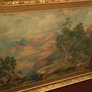 THOMAS MORAN (1837-1926) Southwestern American art nicely framed chromolithograph print of the