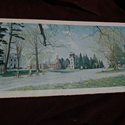 """NORMAN ROCKWELL (1894-1978) American art HAND SIGNED 1971 offset print """"Springtime in Sto"""