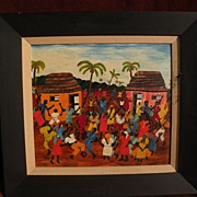 LOUIS-JOSEPH (1932-2007) extremely early work by important Haitian artist